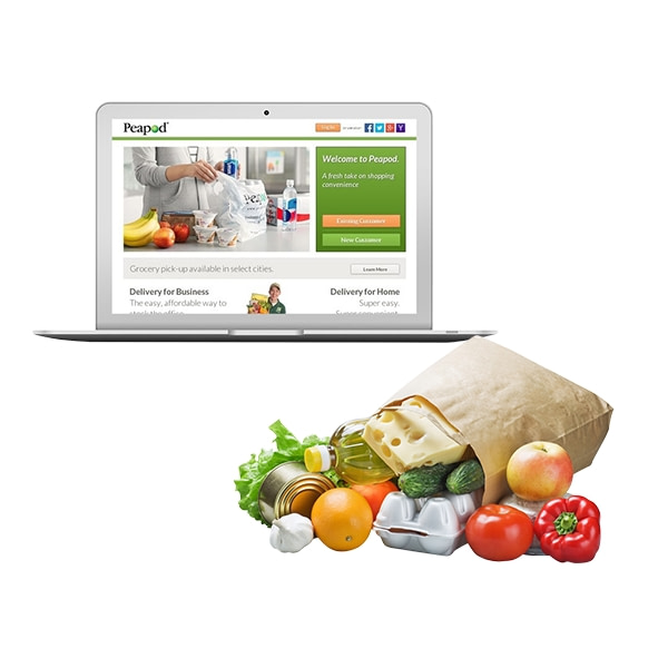 Peapod's grocery delivery and subscription service