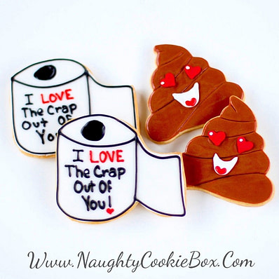 Toilet Paper and Poop Cookies