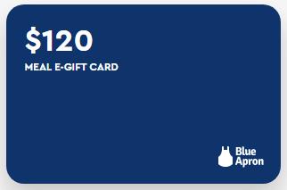 Blue Apron's meal e-gift card