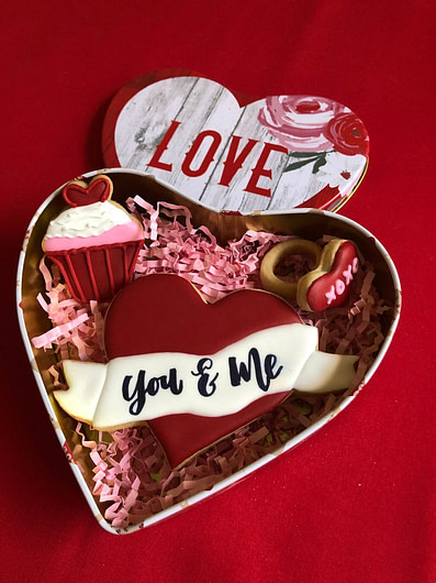 CakeMessages Valentine's Cookies