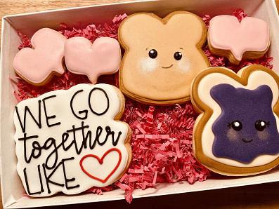 We Go Together Like PB&J | Valentine's Day Cookies