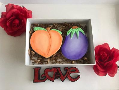 Peach and Eggplant Cookies - Vegan