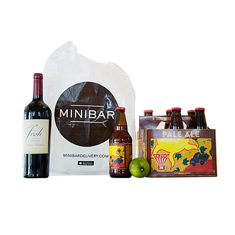 Minibar alcohol delivery service