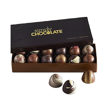 Simply Chocolates' selection of chocolate bars delivery service