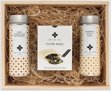 Art of Tea's holiday tea tin gift set