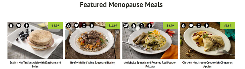 menopause meals provided by balance by bistroMD