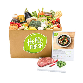 HelloFresh service that delivers fresh and seasonal products